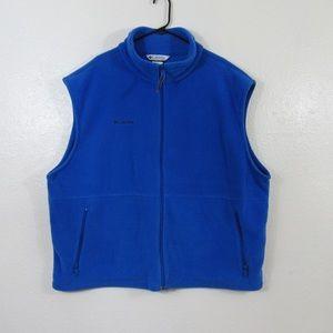 Columbia Men's 3X Fleece Vest Blue